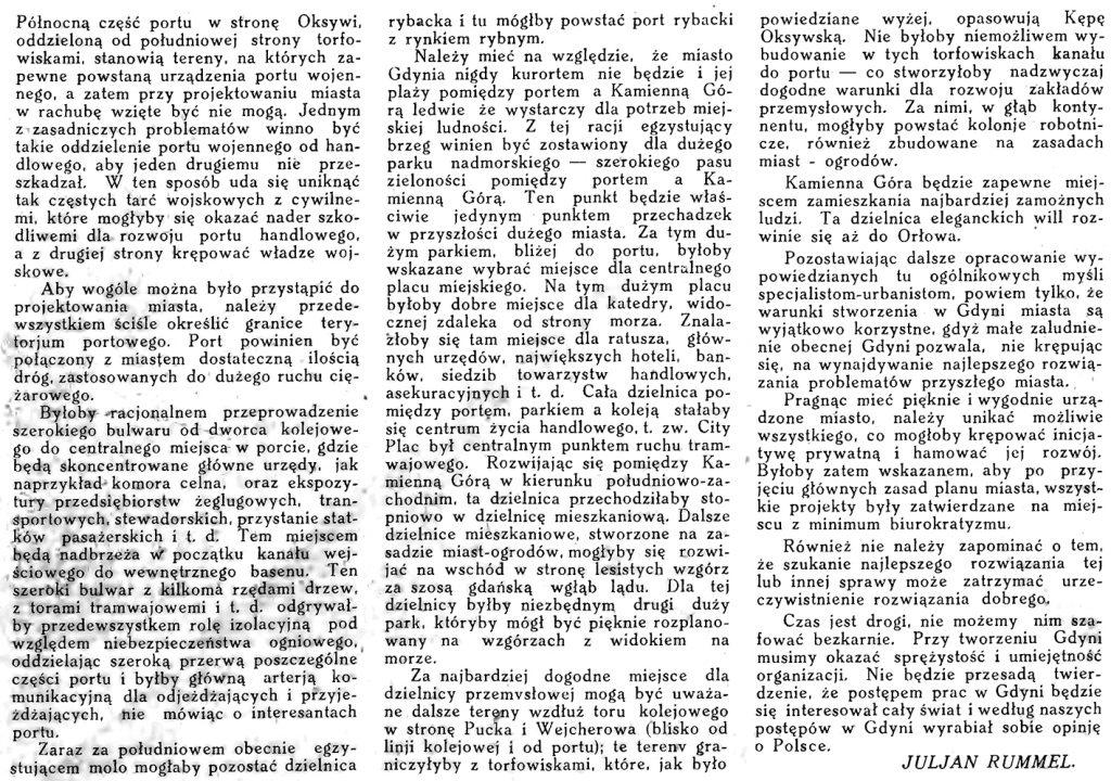 Gdynia. Przyczynek do opracowania planu miasta // Morze. - 1924, nr 2, s. 3