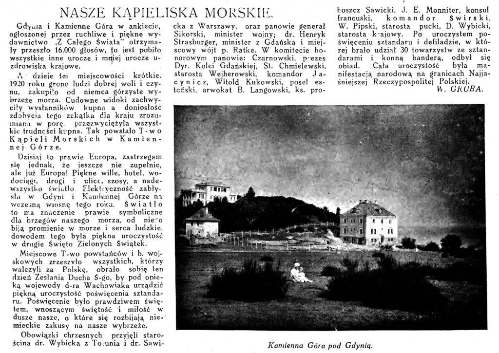 Nasze kąpieliska morskie // Morze. - 1925, nr 8, s. 12. - Il.