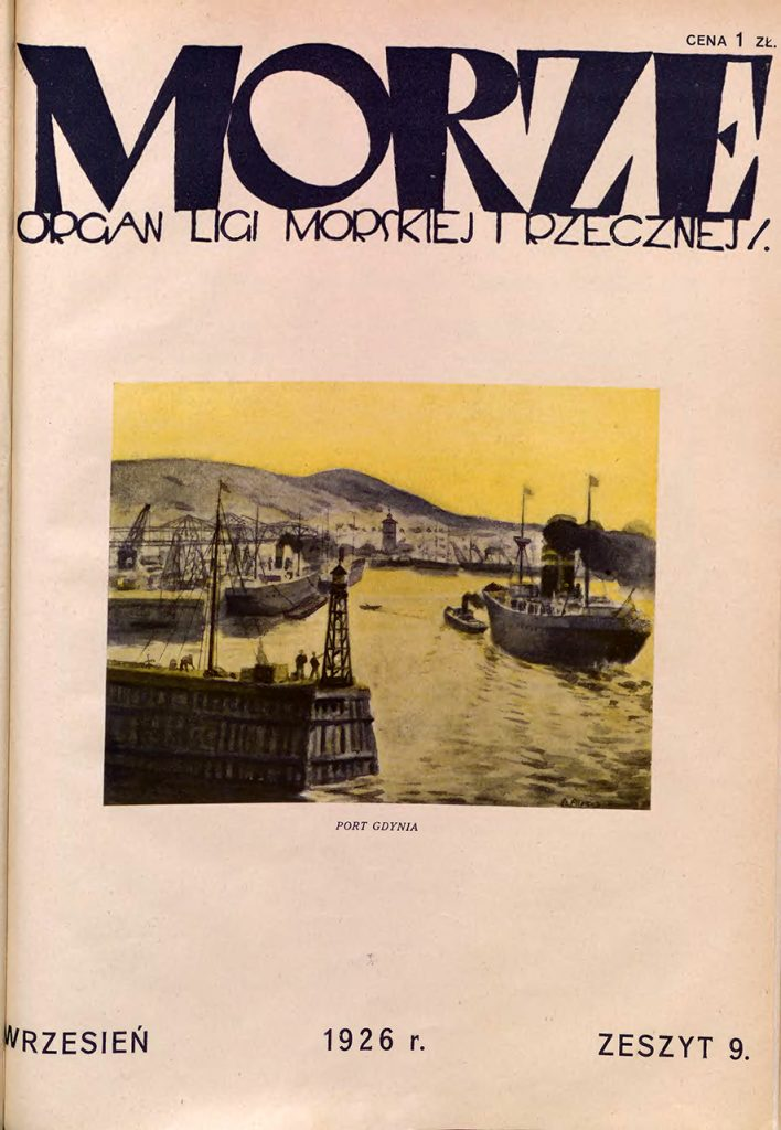 Morze: organ Ligi Morskiej i Rzecznej. - 1926, nr 9