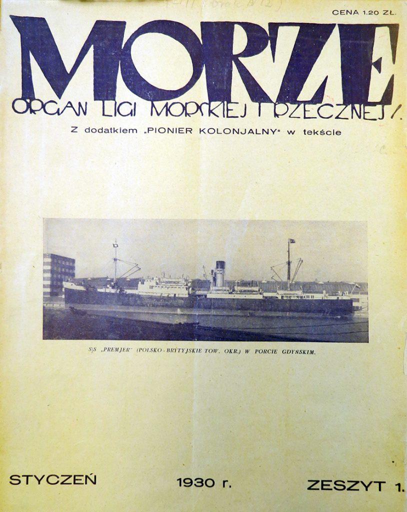 Morze: organ Ligi Morskiej i Rzecznej, - 1930, nr 11930_1