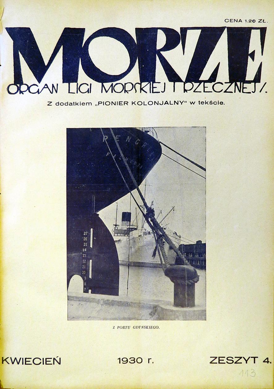 Morze: organ Ligi Morskiej i Rzecznej. - 1930, nr 4