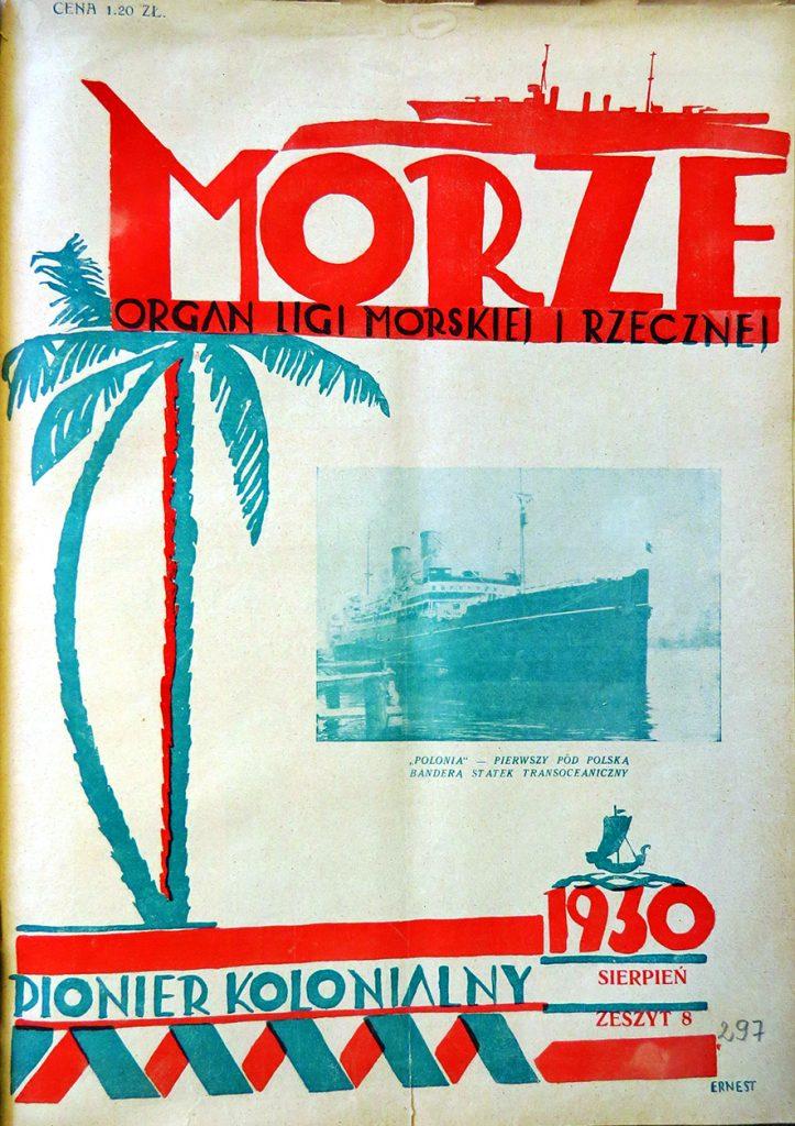 Morze: organ Ligi Morskiej i Rzecznej. - 1930, nr 8