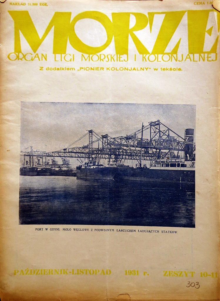 Morze: organ Ligi Morskiej i Rzecznej. - 1931, nr 10/11
