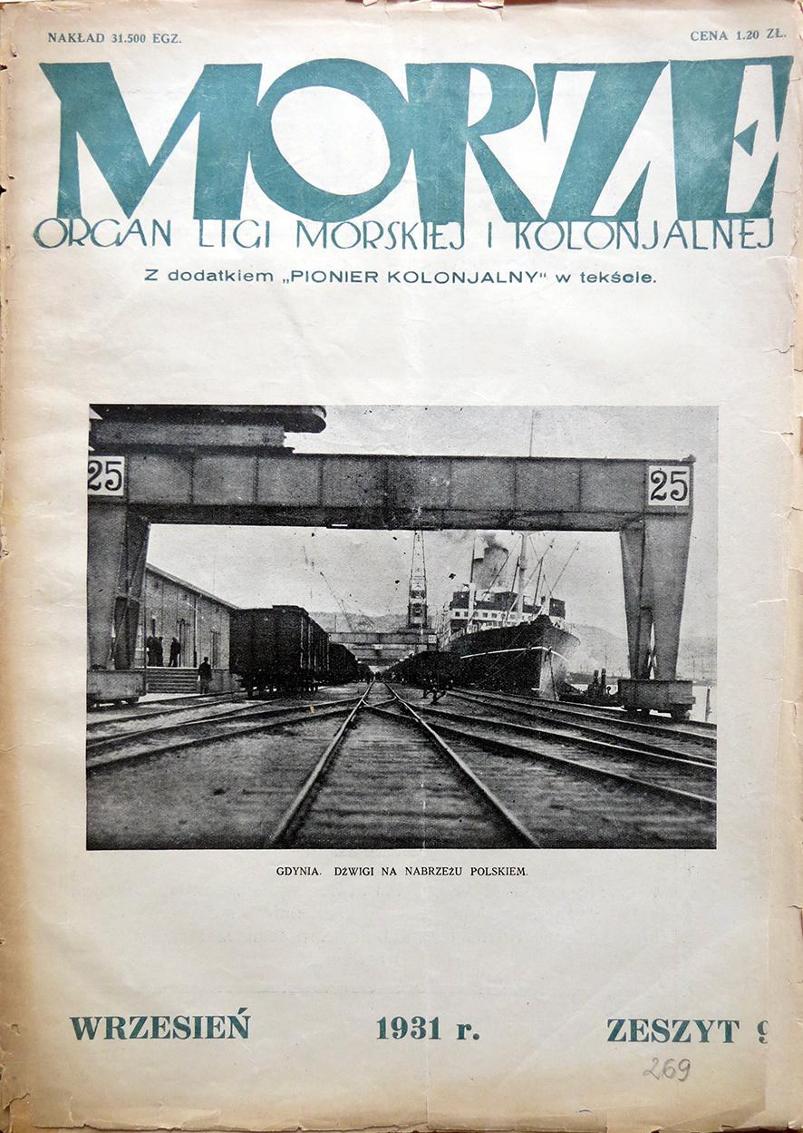 Morze: organ Ligi Morskiej i Rzecznej. - 1931, nr 9