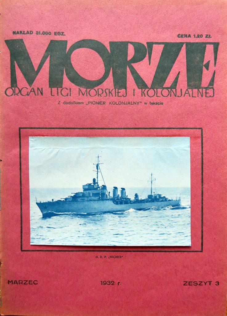 Morze: organ Ligi Morskiej i Rzecznej. - 1932, nr 3