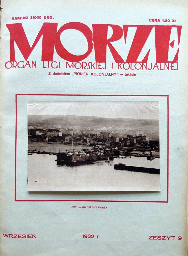 Morze: organ Ligi Morskiej i Rzecznej. - 1932, nr 9