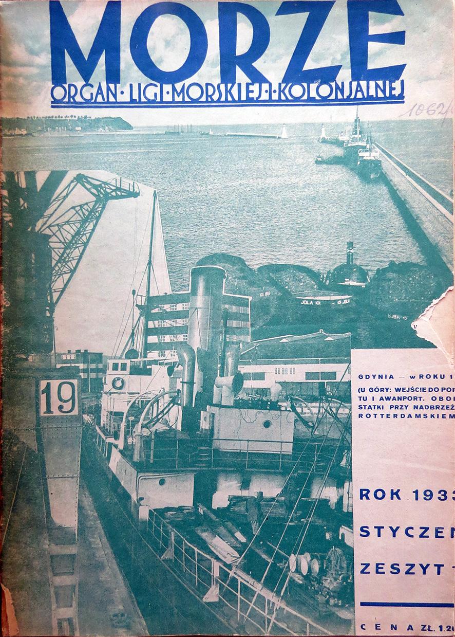 Morze: organ Ligi Morskiej i Rzecznej. - 1933, nr 1