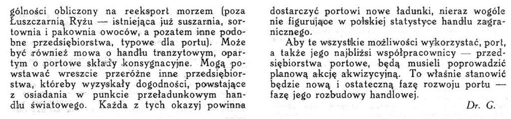 Ostatnia faza rozwoju portu gdyńskiego / Wiadomości Portu Gdyńskiego. - 1937, z. 9