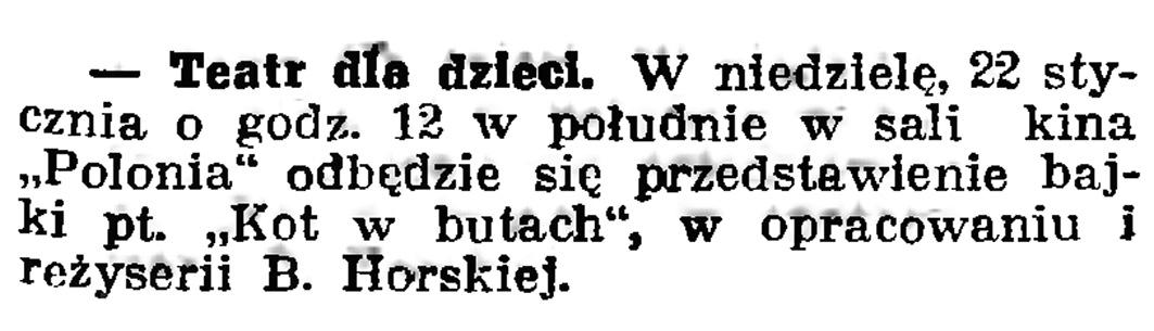Teatr dla dzieci // Gazeta Gdańska. - 1939, nr 16, s. 7