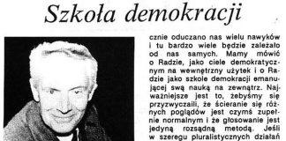 Szkoła demokracji ; rozmowa z [Jerzym Biedrzyckim] Przewodniczącym Rady Miejskiej Gdyni / [rozm.] Krzysztof Wójcicki // Gazeta Gdyńska. - 1990