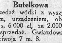 Butelkowa sprzedaż wódki z wyszynkiem, urządzeniem, obrót mies. 6000 zł, za 2000 zł na sprzedaż. Gwiazdowski, Mściwoja 7 m. 8