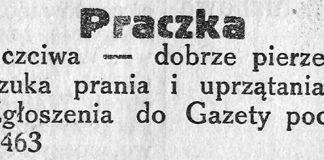 Praczka uczciwa - dobrze pierze, szuka prania i uprzątania // Gazeta Gdyńska. - 1939