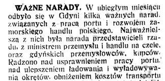 Ważne narady // Polska na Morzu. - 1935, nr 3, s. 2
