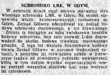 Schronisko LMK. w Gdyni // Polska na Morzu. - 1934, nr 4, s. 16