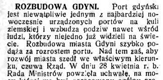 Rozbudowa Gdyni // Polska na Morzu. - 1934, nr 5, s. 2