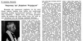 """Nazywany był """"Księdzem Wojującym"""". X rocznica Sierpnia / Wiesława Kwiatkowska // Gazeta Gdyńska. - 1990, nr 2, s. [1]. - Il."""
