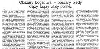 Obszary bogactwa - obszary biedy krąży, krąży złoty polski... / Barbara Kalita // Gazeta Gdyńska. - 1990, nr 2, s. 2, 6