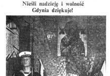 Nieśli nadzieję i wolność. Gdynia dziękuje! / (bk) // Gazeta Gdyńska. - 1990, nr 2, s. 3. - Il.