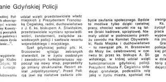 Ślubowanie Gdyńskiej Policji / (AG) // Gazeta Gdyńska. - 1990, nr 2, s. 3. - Il.