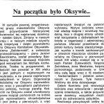 Na początku było Oksywie... / Leon Gierz // Gazeta Gdyńska. - 1990, nr 2, s. 4