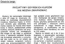 Inicjatywy gdyńskich kupców nie można zmarnować / Ryszard Huciński // Gazeta Gdyńska. - 1990, nr 2, s. 4