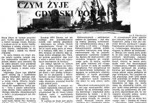Czym żyje gdyński port / K. S. // Gazeta Gdyńska. - 1990, nr 2, s. 5. - Il.