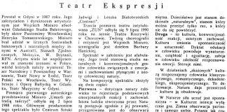 Teatr Ekspresji w Gdybni