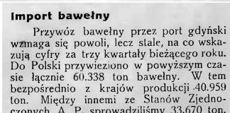 Import bawełny // Latarnia Morska. - 1934, nr 41, s. 5