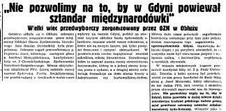 Nie-pozowlimy na to by w Gdyni powiewał sztandar międzynarodówki