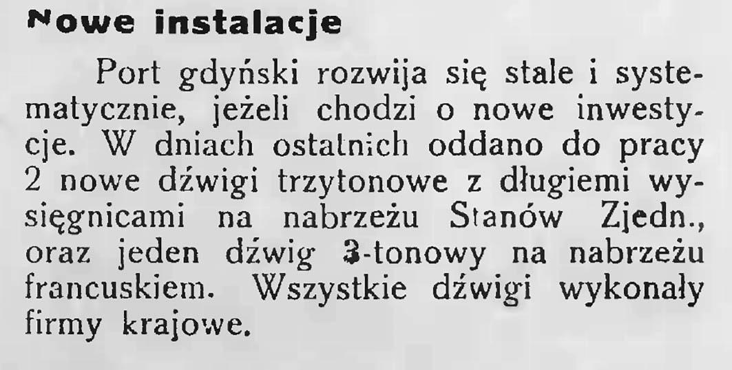 Nowe instalacje // Latarnia Morska. - 1934, nr 41, s. 5