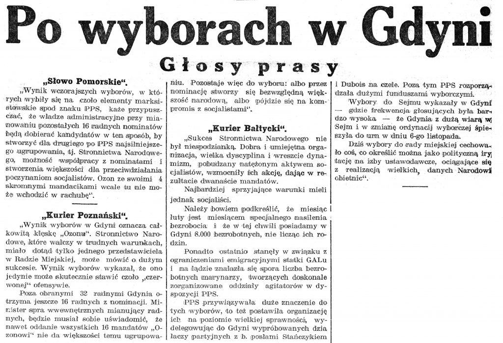 Po wyborach w Gdyni. Głosy prasy