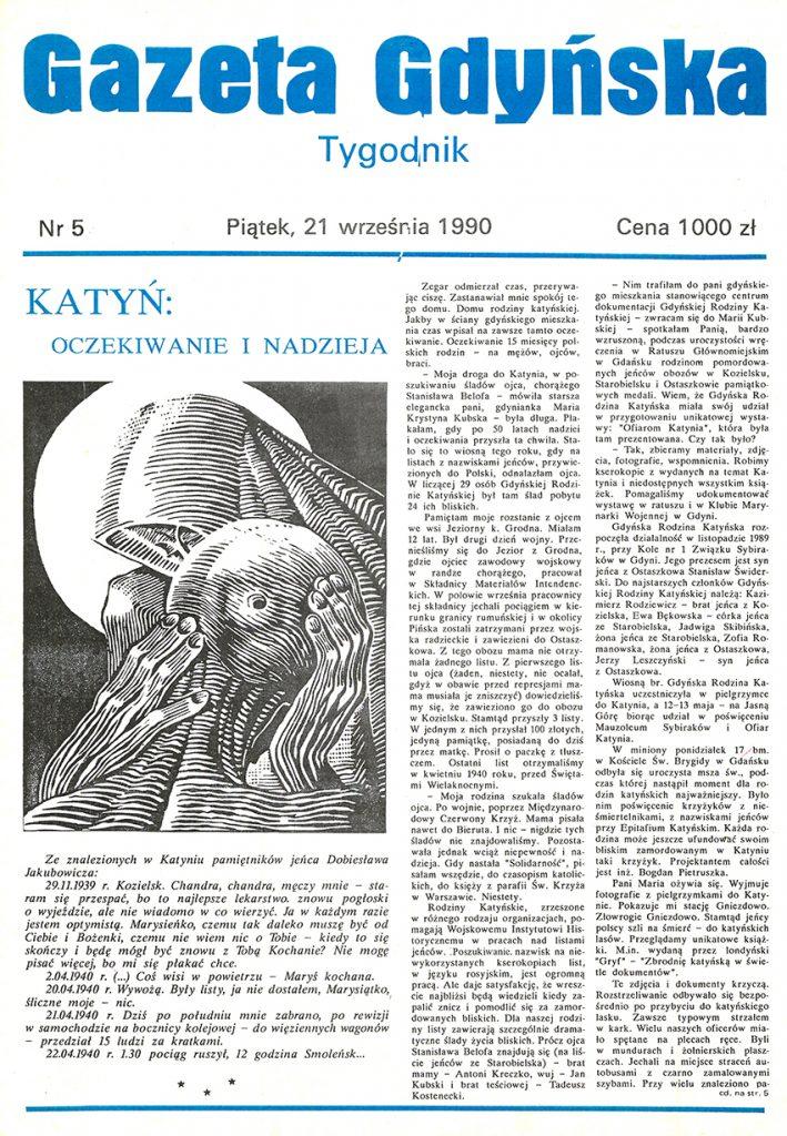 Gazeta Gdyńska 1990, nr 5