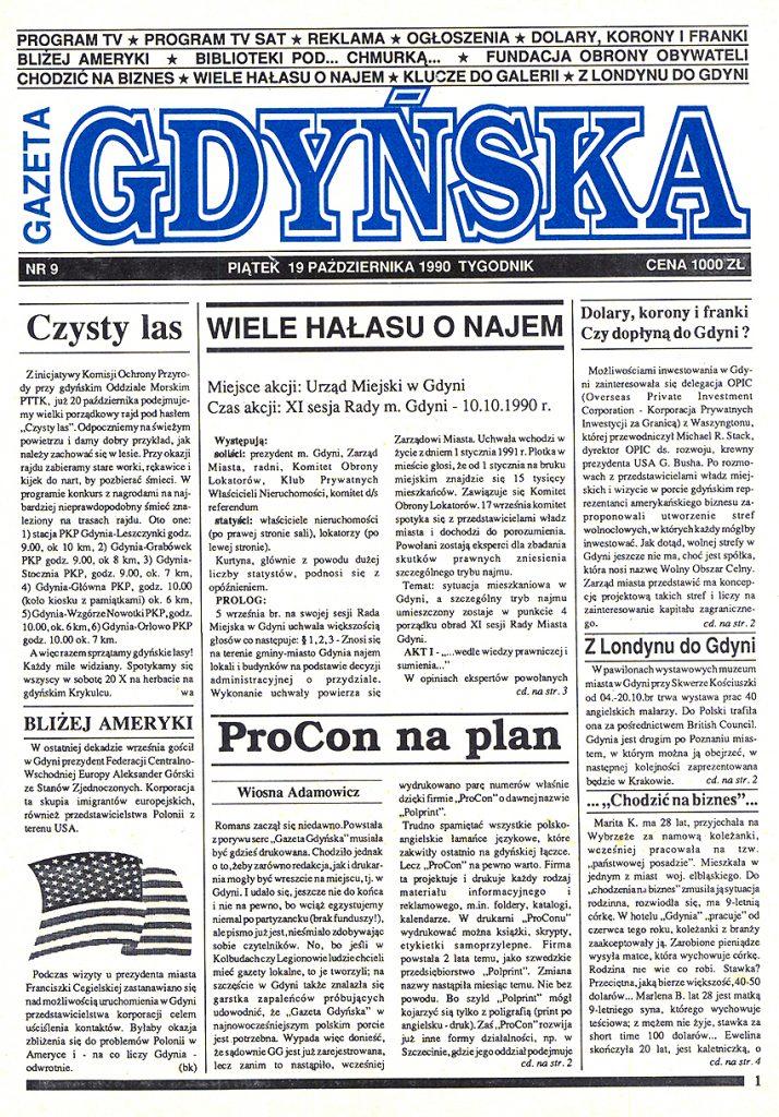 Gazeta Gdyńska 1990, nr 9