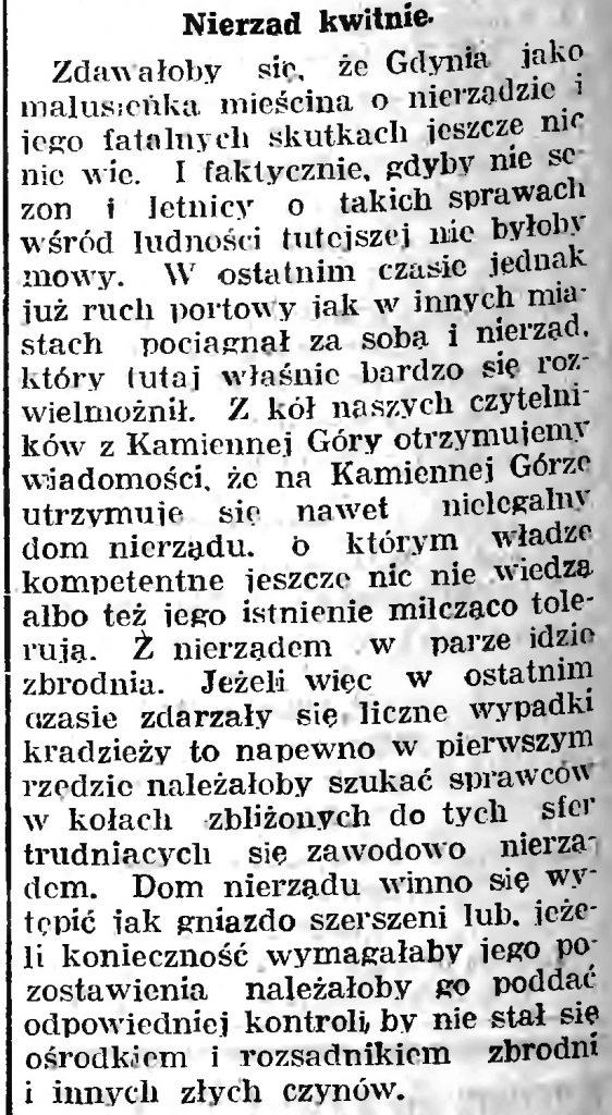 Nierząd kwitnie // Gazeta Gdańska. - 1934