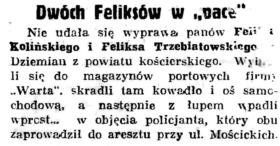 """Dwóch Feliksów w """"pace"""" // Gazeta Gdańska. - 1936, nr 152, s. 6"""