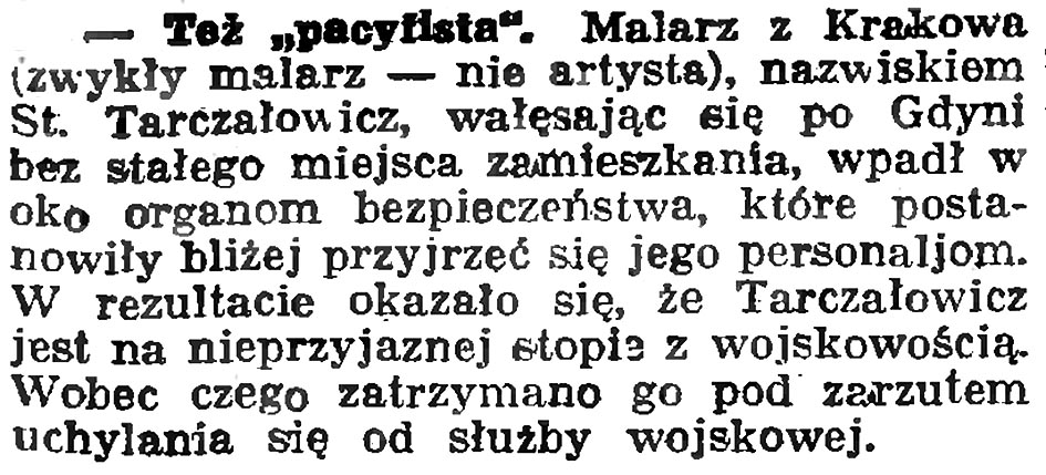 "Też ""pacyfista"" // Gazeta Gdańska. - 1936, nr 93, s. 9"
