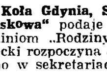 """Zarząd Koła Gdynia, Stowarzyszenie """"Rodzina Wojskowa"""" // Gazeta Gdańska. - 1937, nr 124, s. 8"""