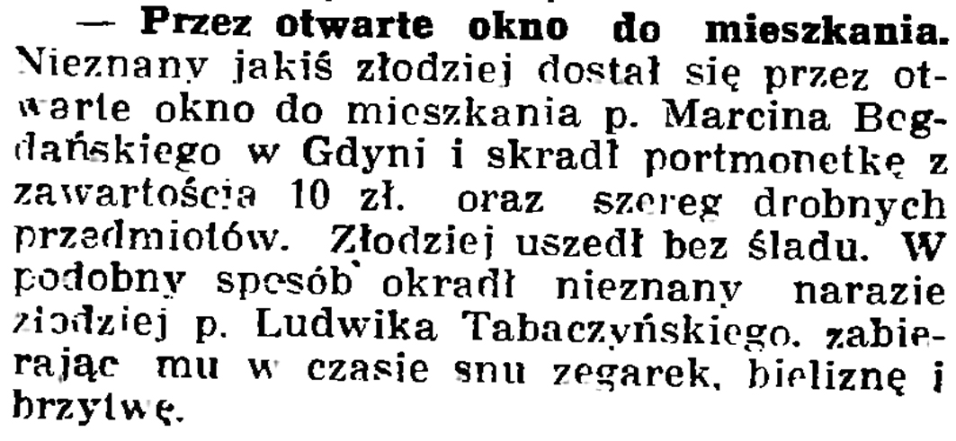 Przez otwarte drzwi do mieszkania // Gazeta Gdańska. - 1937, nr 153, s. 8