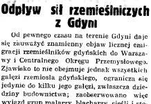 Odpływ sił rzemieślniczych z Gdyni // Gazeta Gdańska. - 1939, nr 17, s. 5