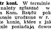 Rejestr koni // Gazeta Gdańska. - 1939, nr 18, s. 12