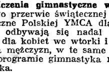Ćwiczenia gimnastyczne w polskiej YMCA // Gazeta Gdańska. - 1939, nr 18, s. 12