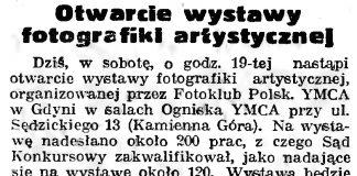Otwarcie wystawy fotografiki artystycznej // Gazeta Gdańska. - 1939, nr 18, s. 12