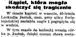 Kąpiel, która mogła skończyć się tragicznie // Gazeta Gdańska. - 1939, nr 18, s. 12