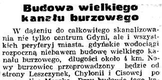 Budowa wielkiego kanału burzowego // Gazeta Gdańska. - 1939, nr 19, s. 6