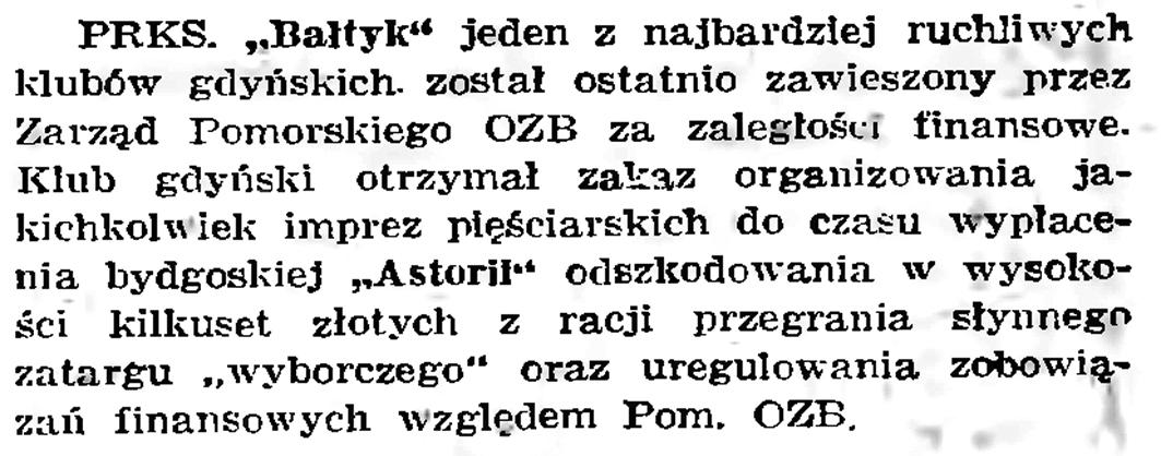 """[PRKSW """"Bałtyk""""] // Gazeta Gdańska. - 1939, nr  19, s. 6"""