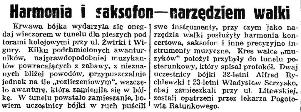Harmonia i saksofon narzędziem walki // Gazeta Gdańska. - 1939, nr 21, s. 7