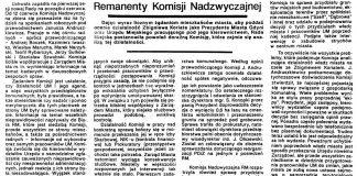 Remanenty Komisji Nadzwyczajnej / Ludmiła Kunicka // Gazeta Gdyńska. - 1990, nr 3, s. 3