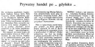 Prywatny handel po ... gdyńsku ... / Alicja Grzybiakówna // Gazeta Gdyńska. - 1990, nr 3, s. 3