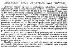 """""""Baltona"""" chce utrzymać swą pozycję / A.S. // Gazeta Gdyńska. - 1990, nr 3, s. 7"""