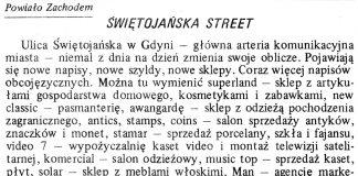 Świętojańska Street / (as) // Gazeta Gdyńska. - 1990, nr 3, s. 7